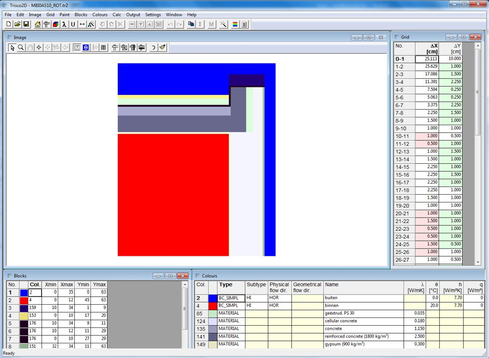 Trisco2D Input and geometric modelling