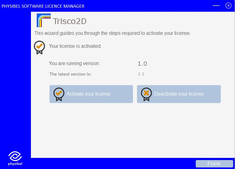 Trisco2D Licence options